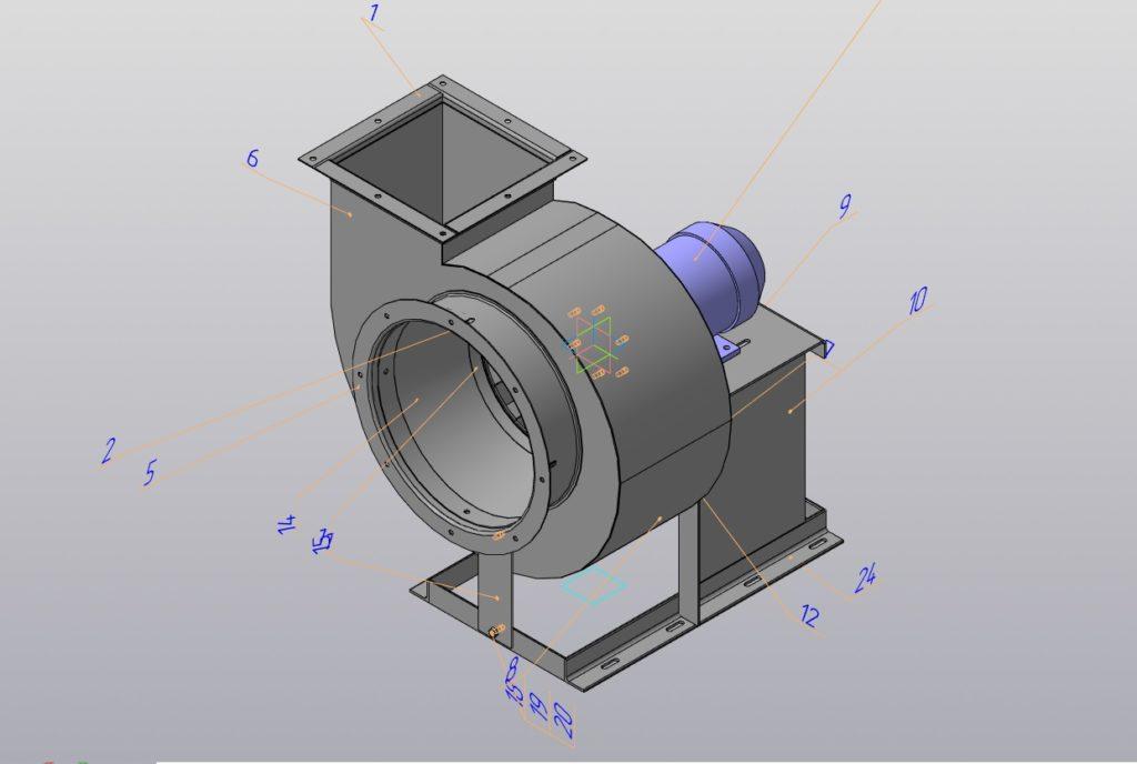 Конструкторская документация на вентилятор радиальный взрывозащищенный