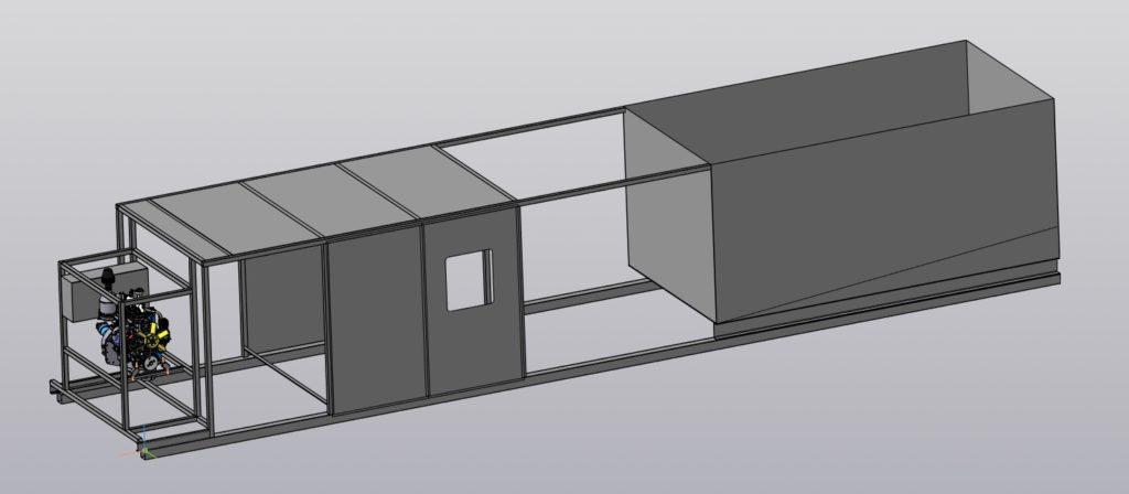 Установка очистки резервуаров от отложений - трехмерная модель.