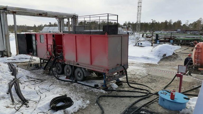 Установка очистки резервуаров от нефтяных отложений